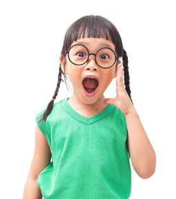 little girl with glasses on