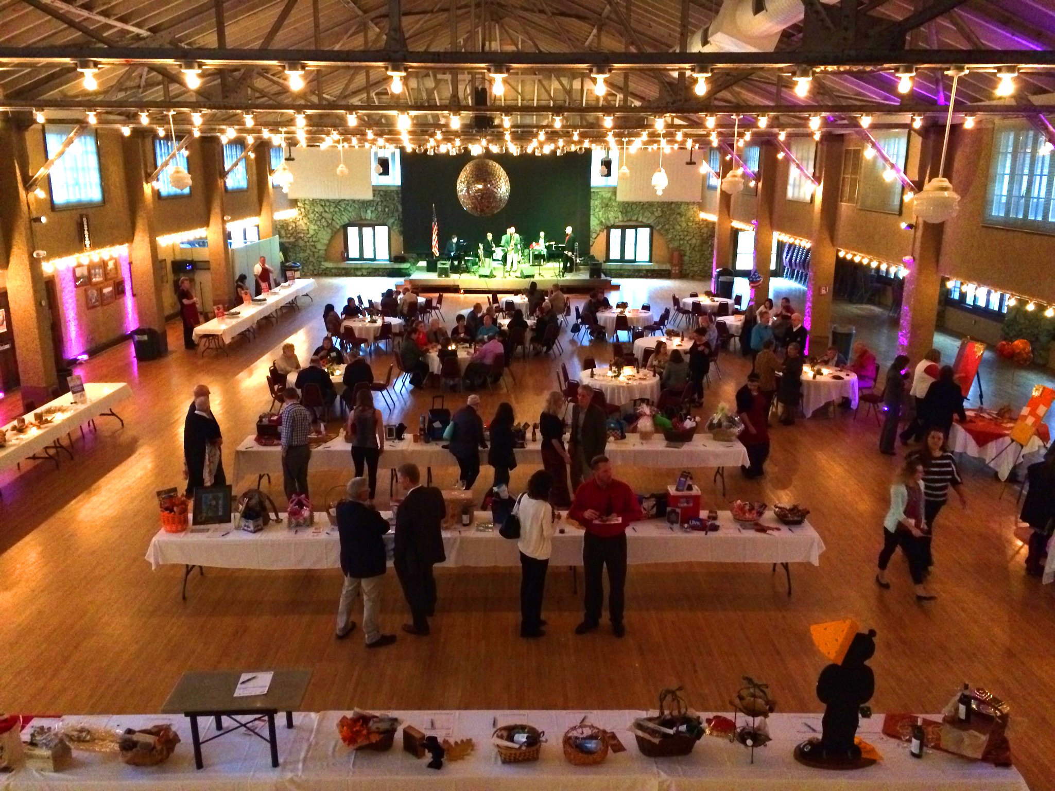 aerial view of a indoor function