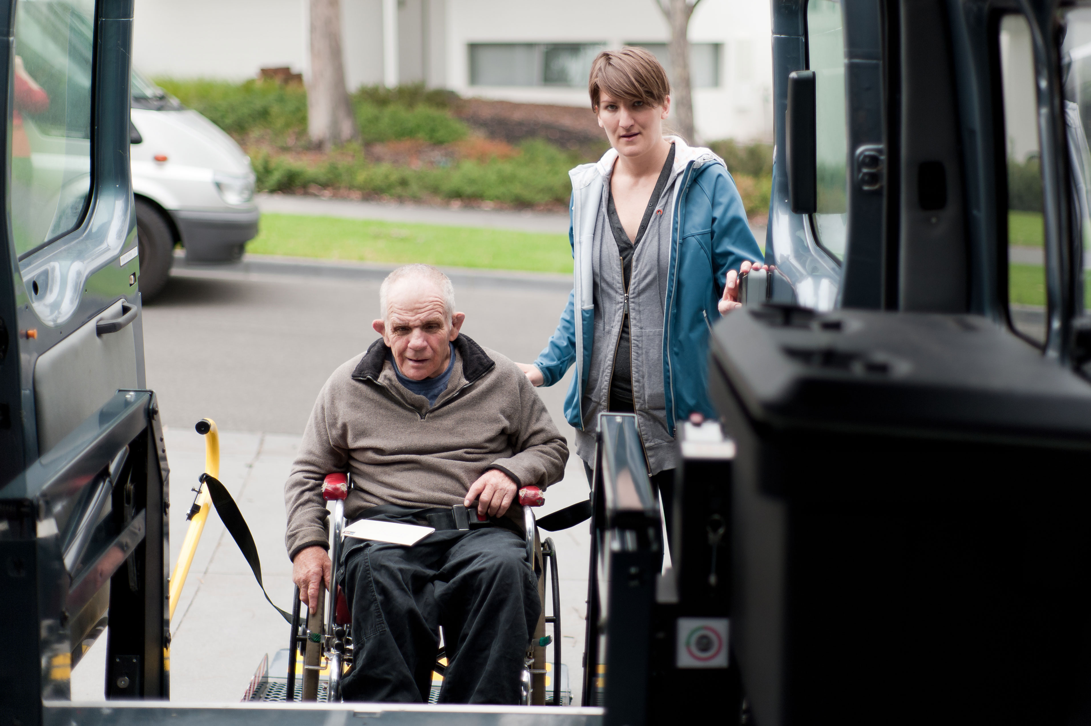 adult with disabilities receiving transportation services