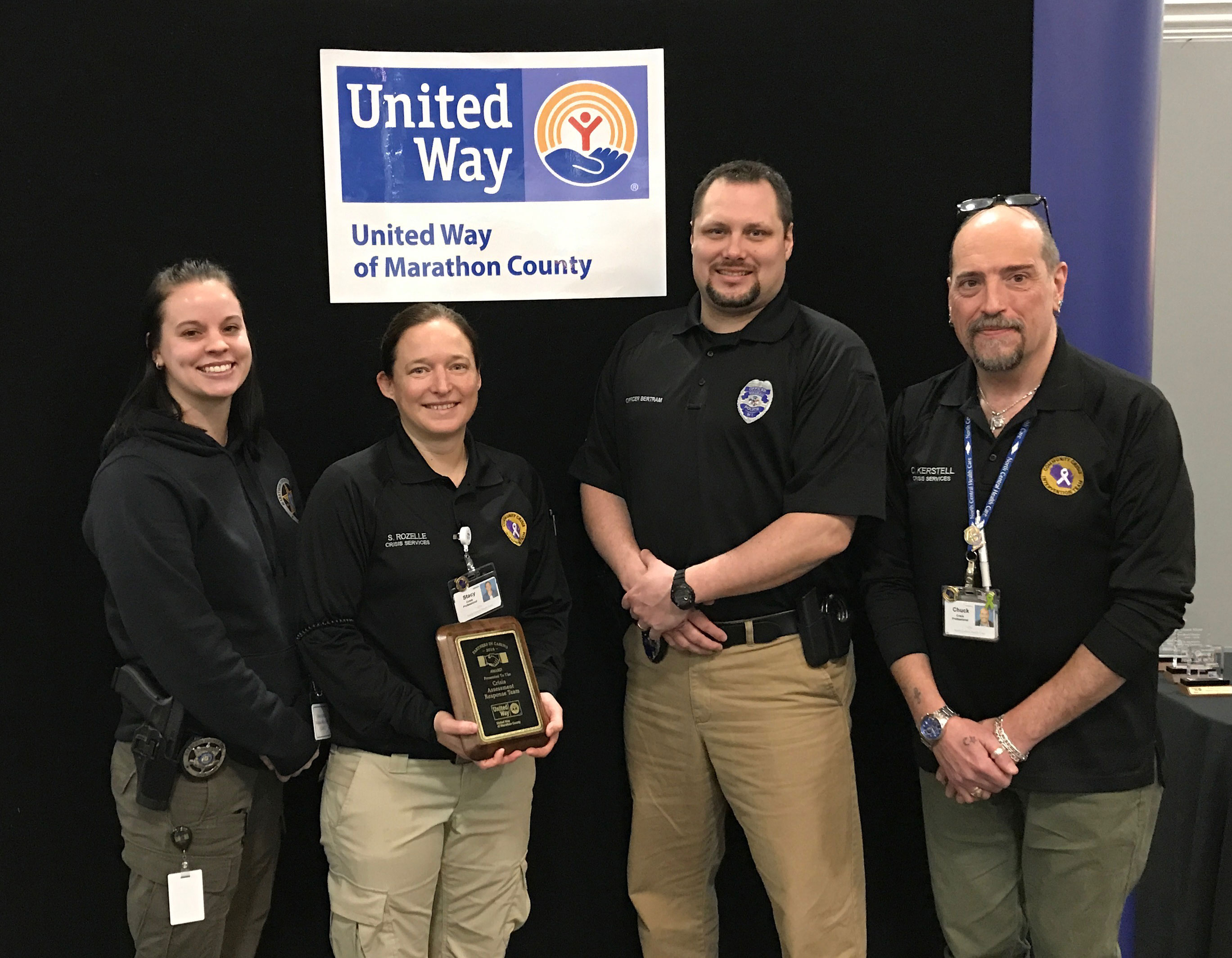 CART Team receives the United Way Partners in Caring Award
