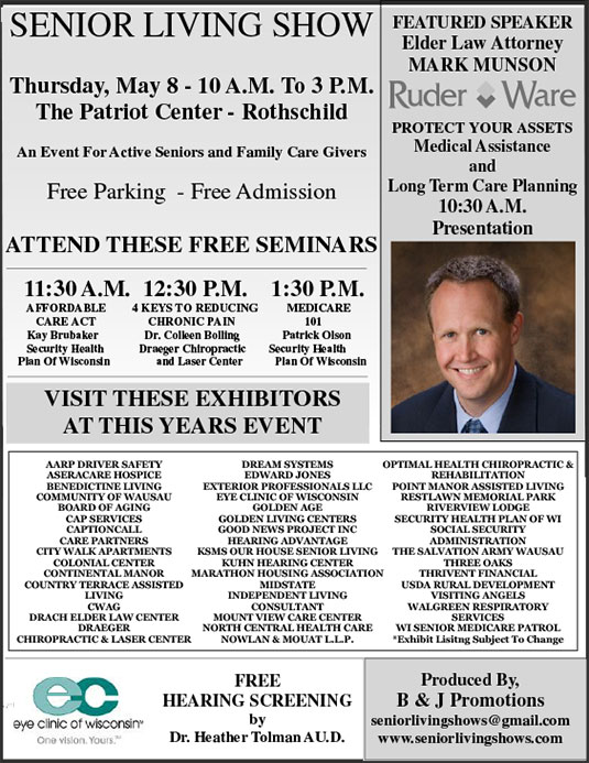 Senior Living Show Flyer 2014