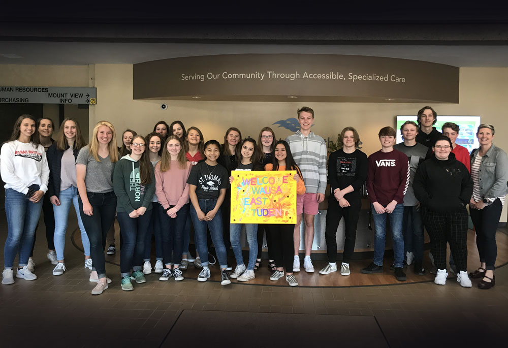 Wausau East Students visit North Central Health Care
