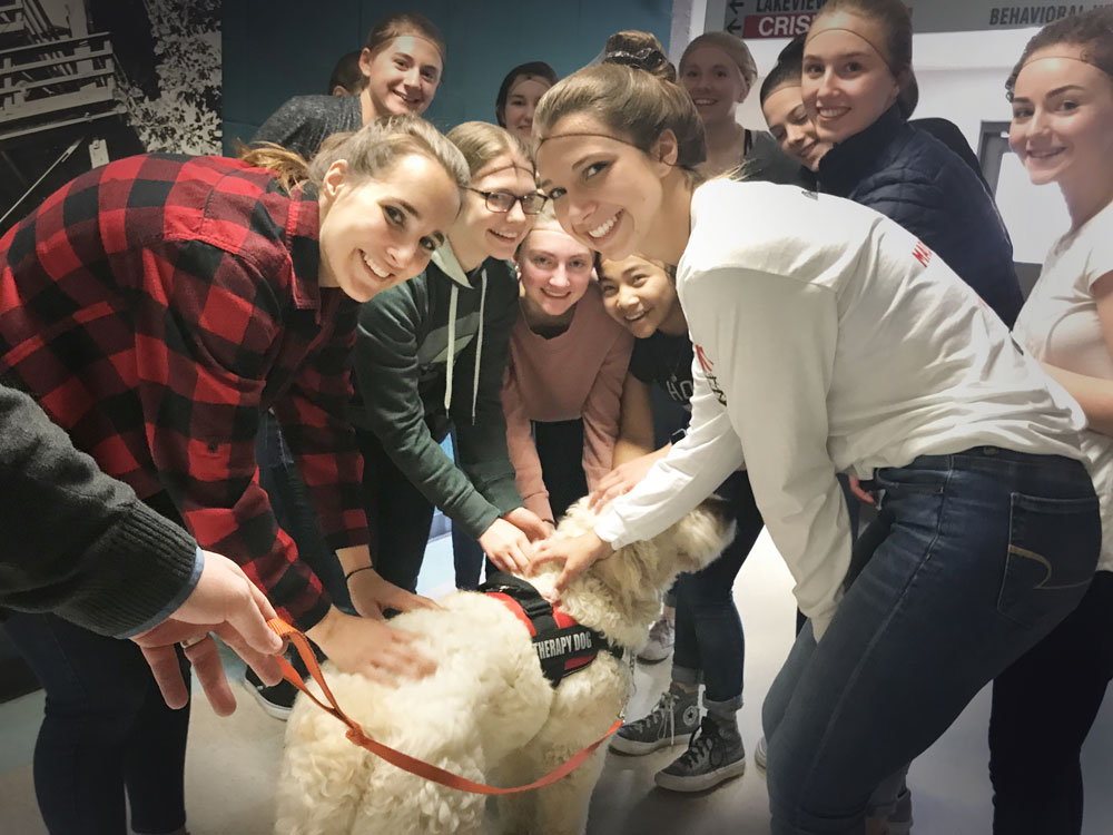 Wausau East Students visit-with-Alvin