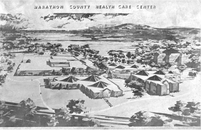 1972 Image of Health Care Center Renderings