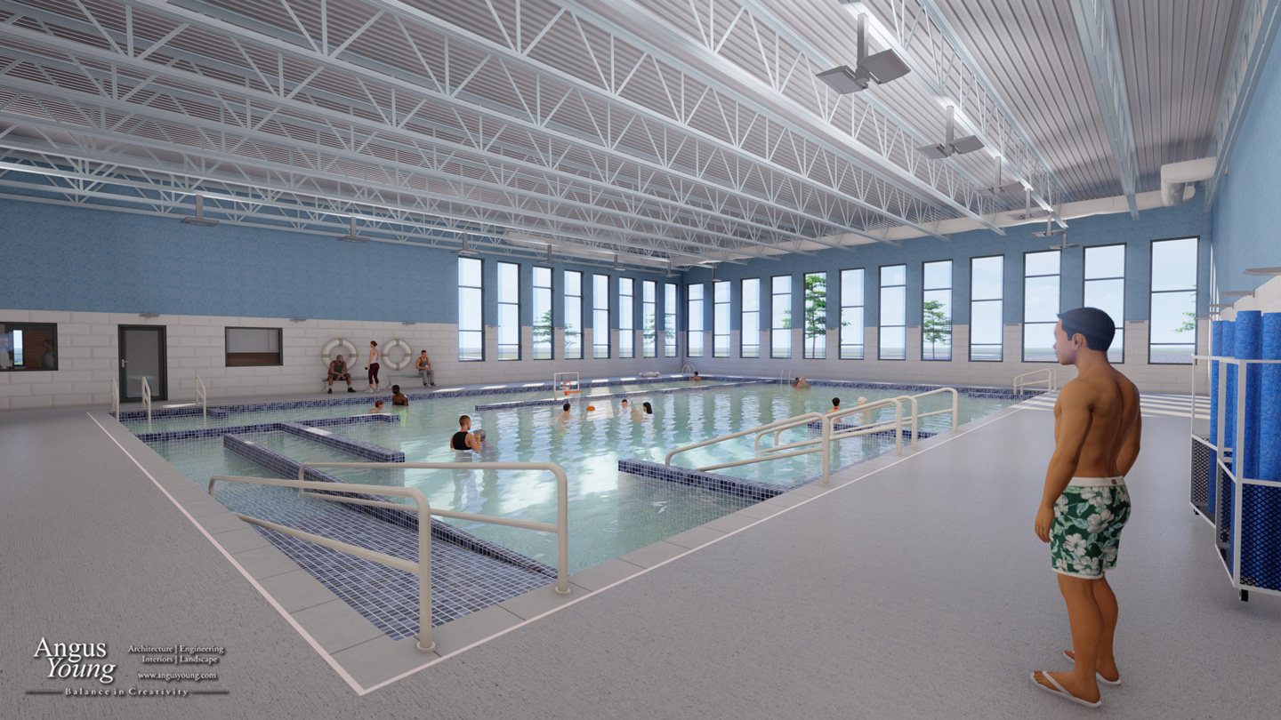 Interior view of the Aquatic Therapy Pool